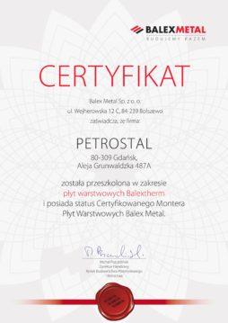 certyfikat PetroStal v2